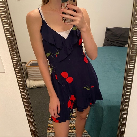 Forever 21 Dresses & Skirts - Ruffle cherry dress